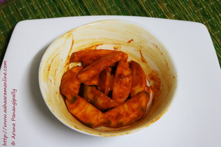 Instant, No Oil Mango Pickle with Asafoetida