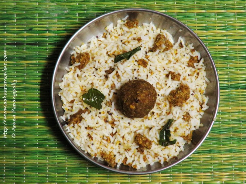 Marathwadi Khamang Dhokle with Rice and Ghee