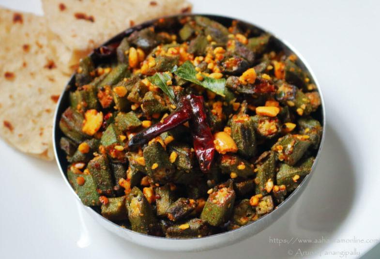 Bhindi Fry with Peanuts from Maharashtra: Recipe by Shailaja Bamane