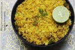 Nagpuri Bharda Bhat served with lemon