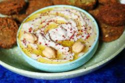 Sumac Hummus with Falafel