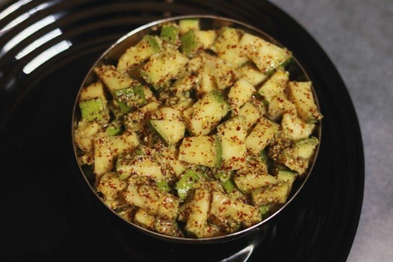 Ava Baddalu   Instant Andhra Mango and Mustard Pickle
