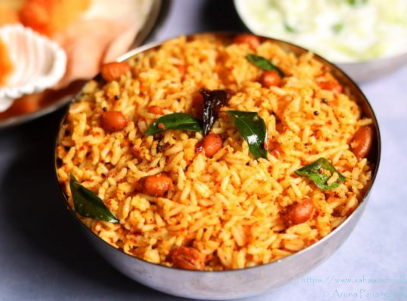 Coconut and Mustard Rice | Kayi Sasive Chitranna | Ava Pettina Kobbari Annam