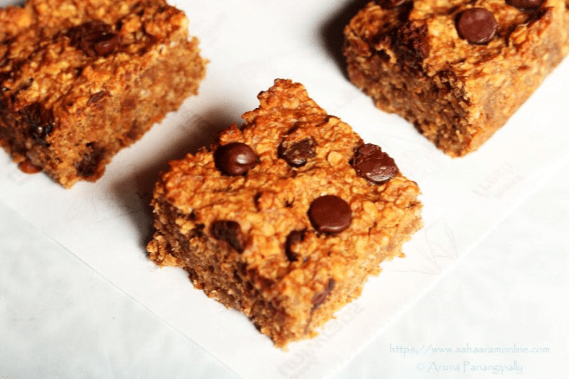 Flourless Oats Banana Peanut Butter Energy Bars