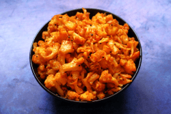 Cauliflower Fry spiced with red chilli powder