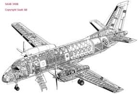 Structure and Aerodynamics of SAAB 340 Series Aircraft