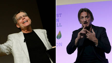 FILE PHOTO: (L) Stephen King © REUTERS / Mike Segar; Sean Penn © REUTERS / Stephane Mahe