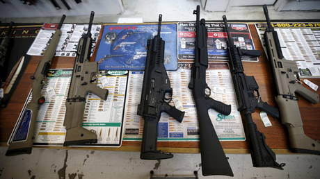 File photo of a gun shop in Roseburg, Oregon, USA, October 3, 2015