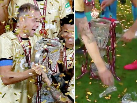 روسی کھلاڑیوں کو جیت کی خوشی میں اچھلنا کودنا مہنگا پڑ گیا: جیتا ہوا انعام توڑ بیٹھے
