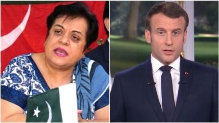 ڈاکٹر شیریں مزاری غلط خبر پر فرانسیسی صدر پر برس پڑیں، فرانسیسی سفارت خانے کے سخت جواب پر بیان واپس لینا پڑ گیا