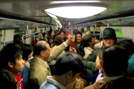 Crowded MTR - Hong Kong