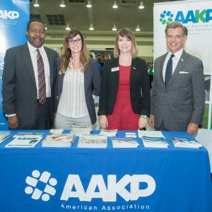 AAKP Board Members and Staff: BOD VP Richard Knight, Marketing and Communications Manager Deb Pelaez, Director of Stakeholder Operations Center for Patient Engagement & Advocacy, and BOD President Paul Conway