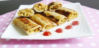 Low Fat Paneer Rolls Recipe