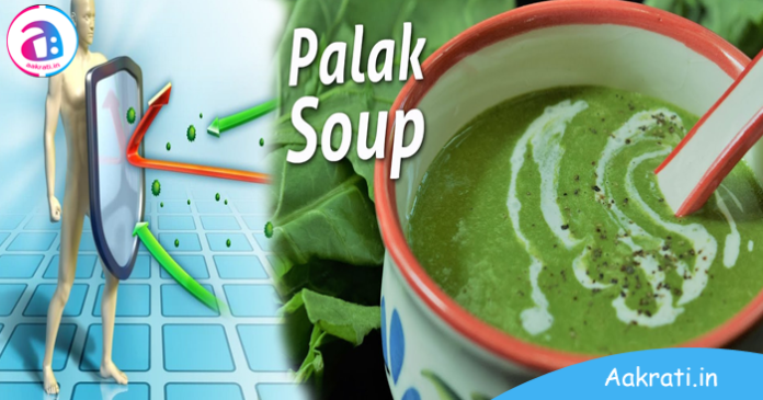 Palak Soup For Immunity Boost