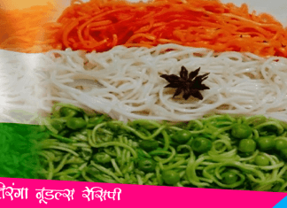Tiranga Noodles Recipe
