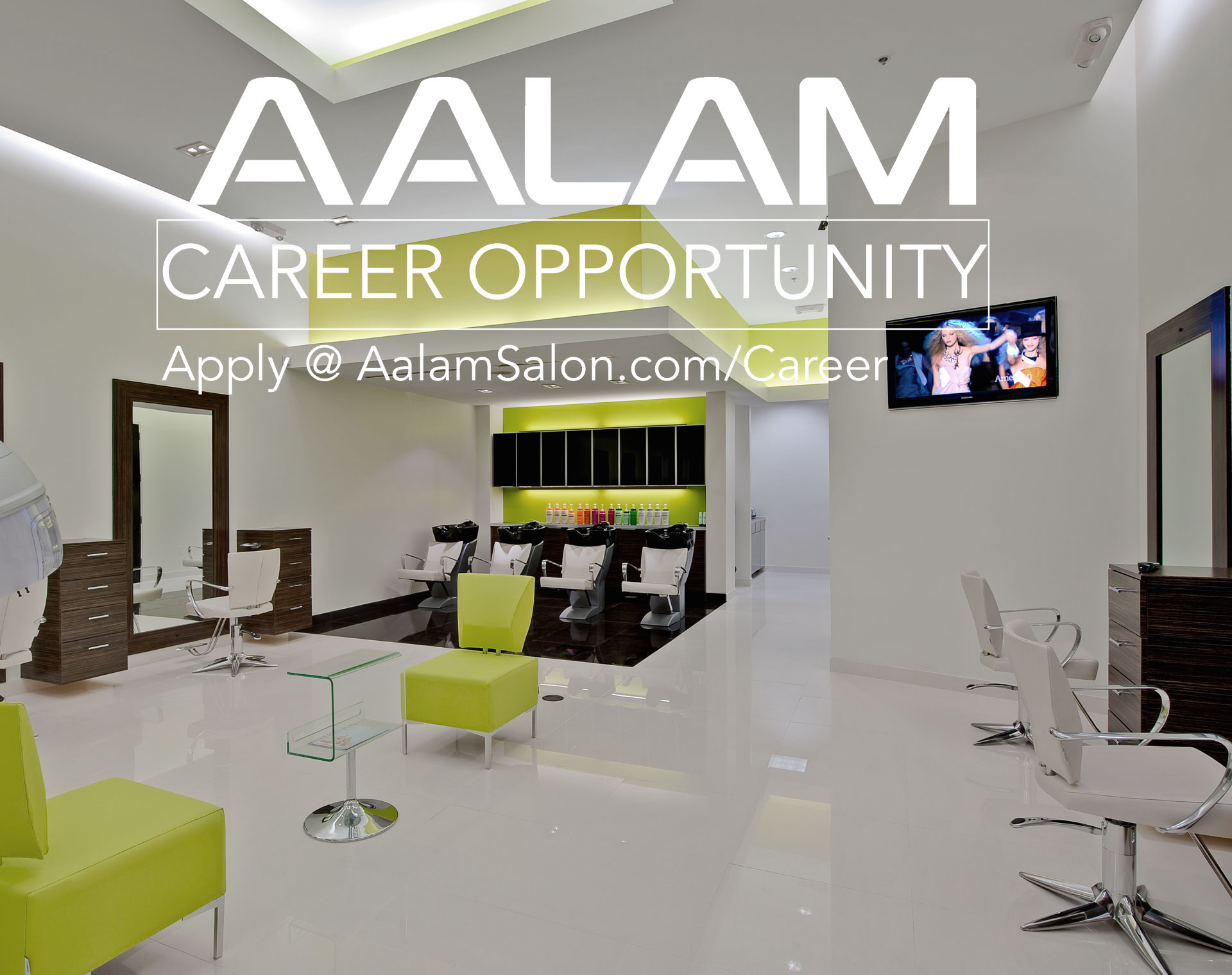 AALAM Employment Career Opportunity Now Hiring Experienced Hairdresser Apprentice Hair Stylist