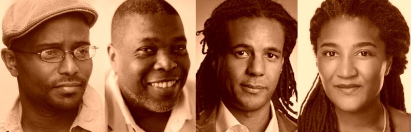 Tyehimba Jess, Hilton Als, Colson Whityehead and LYnn Nottage. Black writers winners of the 2017 Pulitzer Prize