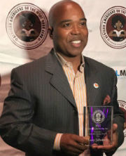 Troy Johnson, honored on June 10, 2017, with the Literary Activist Award