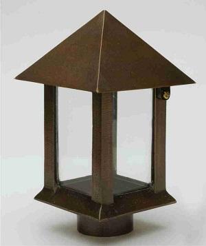Lampe_ XL__Havedekoration_gravsten_bronzelampe