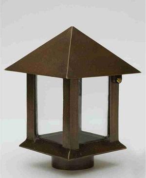 Lampe_ stor__Havedekoration_gravsten_bronzelampe