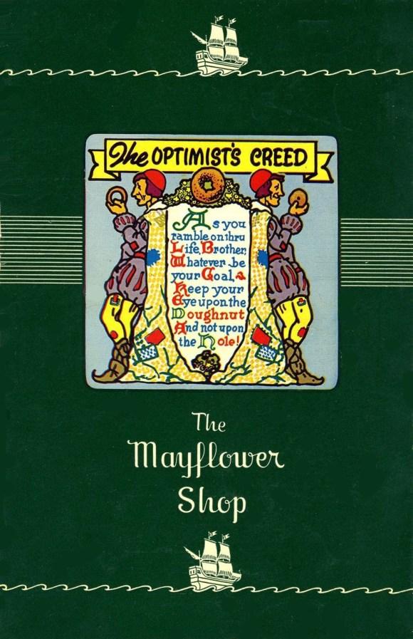 Cover, Mayflower Coffee Shop menu