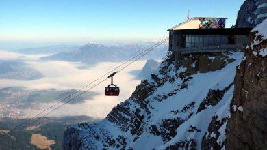 السياحة في الشتاء في سويسرا البيضاء