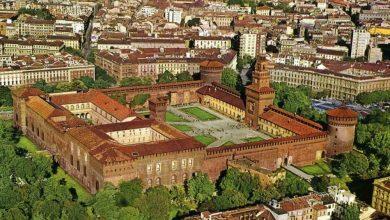 أهم المعالم السياحية في مدينة ميلانو قلعة سفورزيسكو
