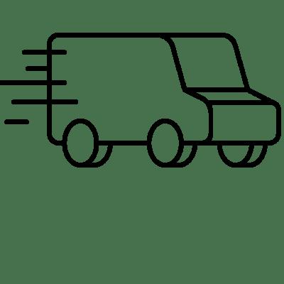 Vue d'une camionnette de livraison