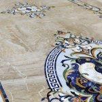 Custom Marble Whole Floor Inlays Aalto Marble Inlay
