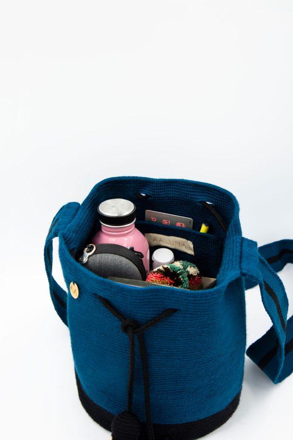 Flecha Medium Colorblock Bucket in Blue duck/Black フレッチャ bucket bag