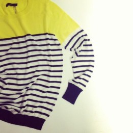 Rowson Color Blocked Striped SWEATER thml