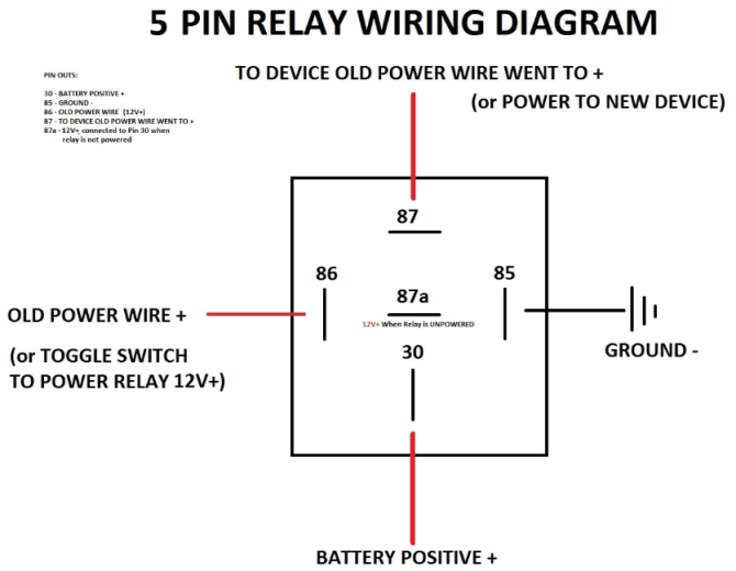how to wire a standard automotive relay – aamp global