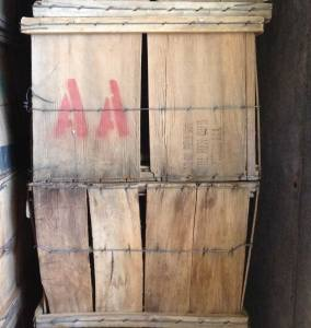 A and A wooden fruit crates