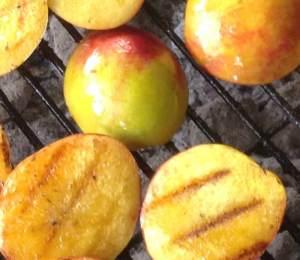 Arrington nectarines on the grill