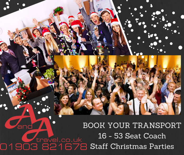 christmas party transport minibus and coach