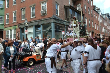 The Feast Day of Santa Rosalia, North End Procession with the Saint