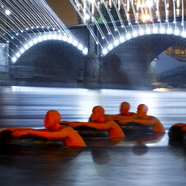 SOS (Safety Orange Swimmers) at ArPrize 9, Cory Morse/MLive