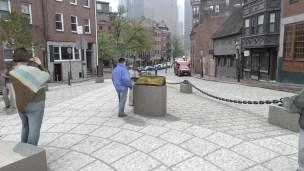 North Square Public Art Rendering, Relief Sculpture