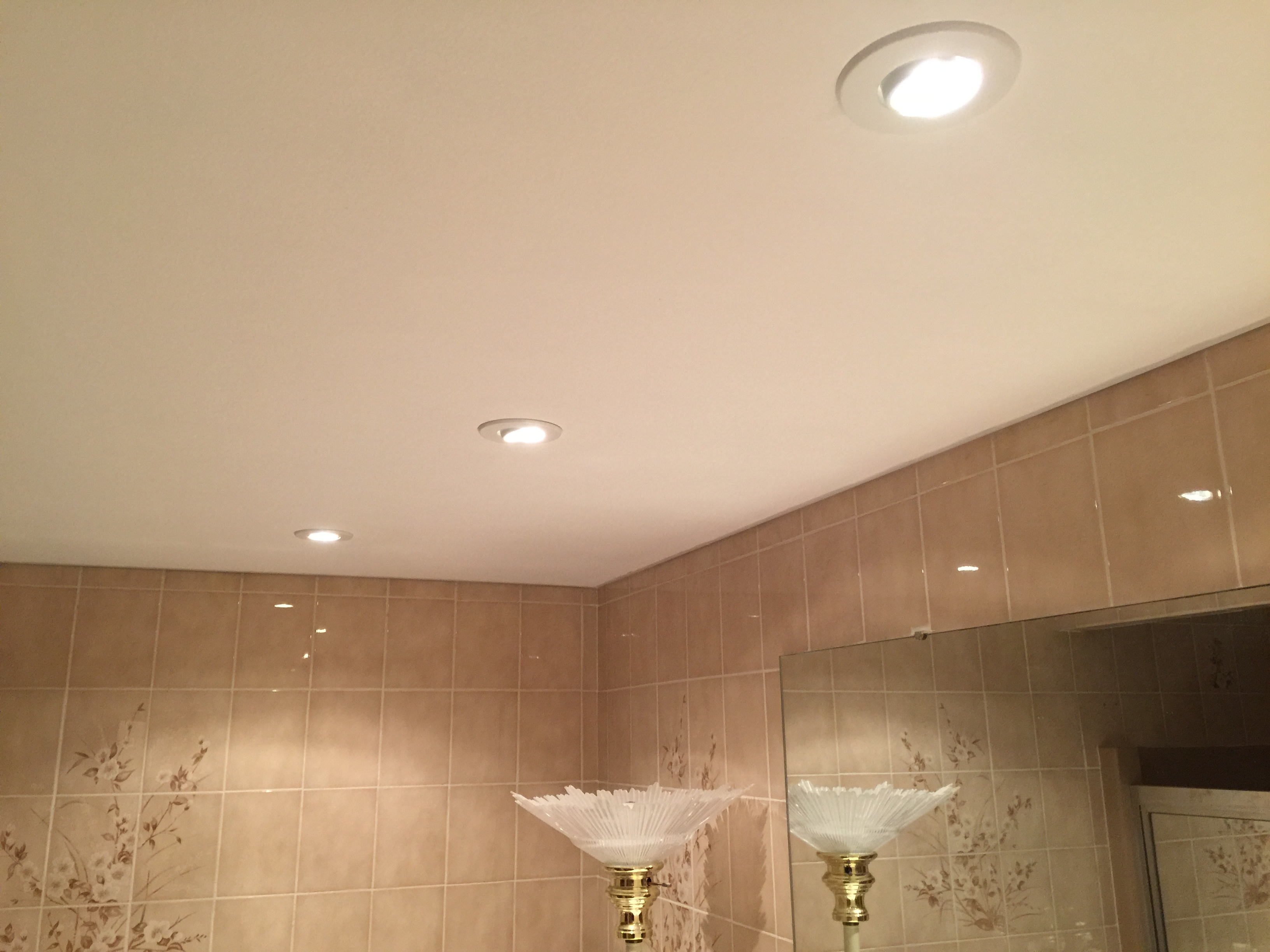 Recessed Bathroom Lights Installed  A and M Electric LLC