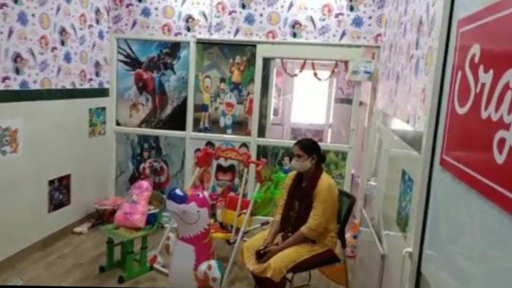 दिल्ली के थानों में छोटे बच्चों के लिए खेलने की व्यवस्था