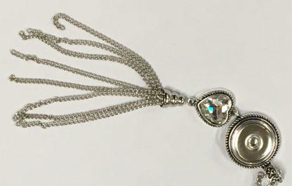 Crystal Heart Necklace Closeup