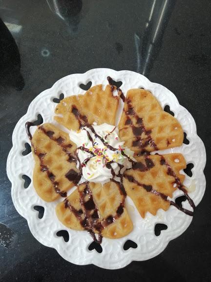 Waffles at home