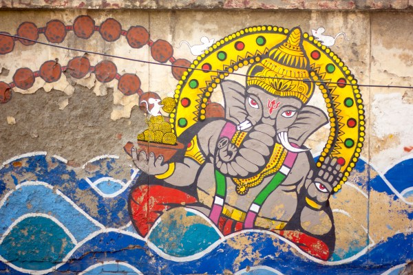 Ganesha on the wall