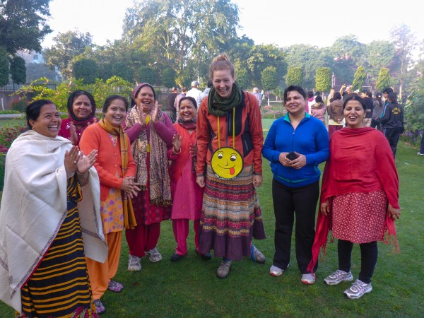 Laughter Yoga at 6am in the park