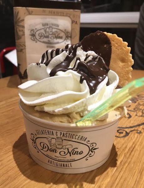 Caramel gelato