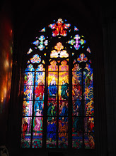 Stain glass in one of the churches