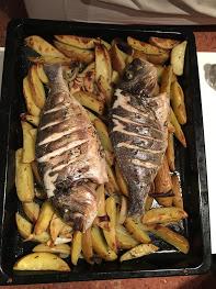 Homemade fish dinner