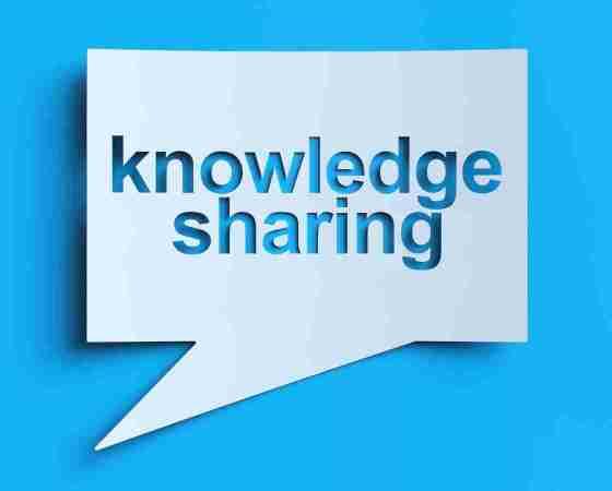 अपना knowledge को share करना
