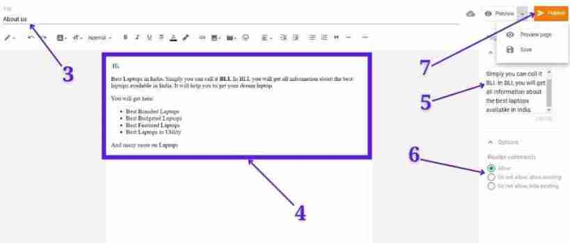 ब्लॉगर पर पेज कैसे बनाएं