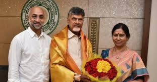 Jayadev Galla with Chandrababu Naidu